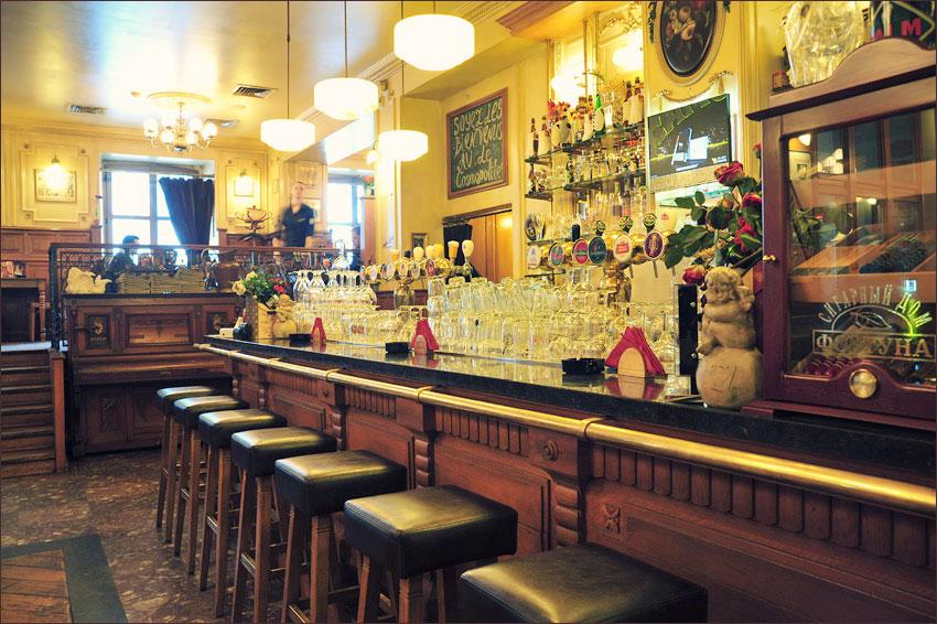 Ресторан Le Cosmopolite в Киеве. Барная стойка