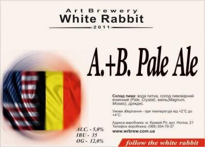 A.+B. Pale Ale - новинка от White Rabbit Art Brewery