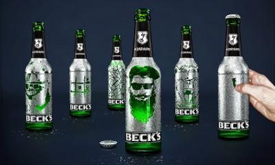 На бутылках пива Beck's можно рисовать