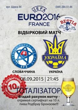Словакия - Украина в пабе BESTia