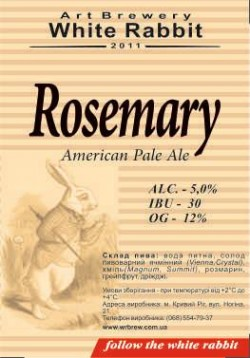 CRAFT Beer Store представляет Rosemary APA от White Rabbit