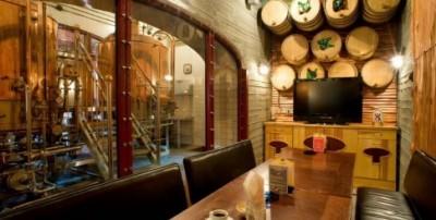 Ресторан-пивоварня Шато. Киев. Вид на пивоварню