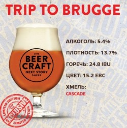 Дегустация пива Trip to Brugge от днепропетровской пивоварни Zip