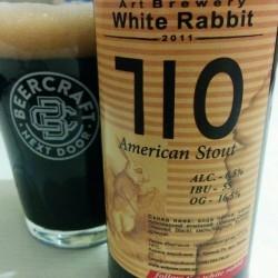 Дегустация пива 710 American Stout от White Rabbit