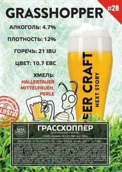 Grasshopper — новый сезонный сорт от днепропетровской пивоварни Zip