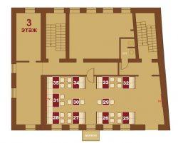 Соломенская пивоварня на Подоле. Схема 3-го этажа
