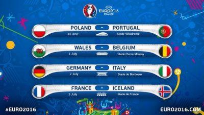 1/4 финала EURO 2016 в Andrew's Irish Pub