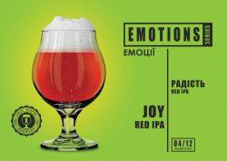 Joy Red IPA - четвертый сорт новой серии EMOTIONS из Днепра