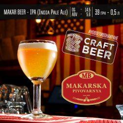 India Pale Ale от Макарской пивоварни в пабе Tarantino