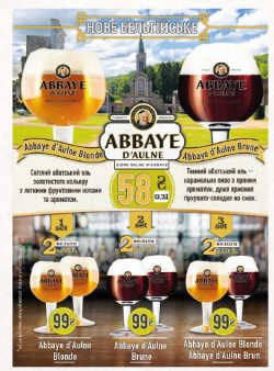 Бельгийское разливное пиво Abbaye d'Aulne в Украине