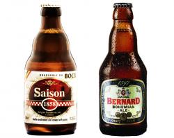 Бутылочное пиво Brasserie du Bocq Saison 1858и Bernard Bohemian Ale от Сильпо