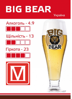 Big Bear - новый сорт от Море пива из Днепра