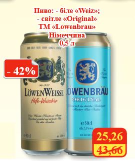 Акция на Löwenbräu в МегаМаркетах
