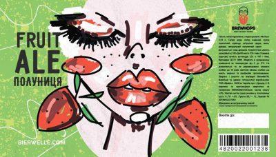 BREWHOPS Fruit Ale Полуниця - новый сорт из Чернигова