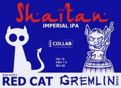 Shaitan IPA - коллаборация от Gremlin Brew и Red Cat Craft Brewery