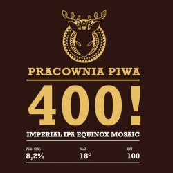 Pracownia Piwa 400! — польская новинка в CRAFT vs PUB