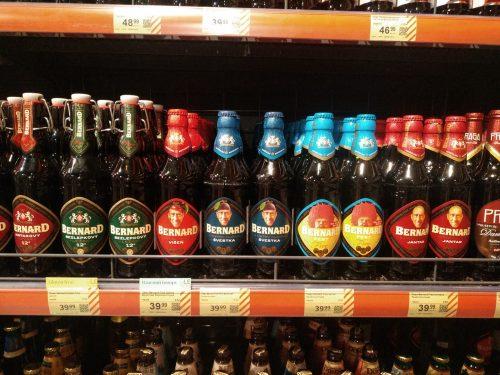 Новые сорта бутылочного чешского пива Bernard в Украине
