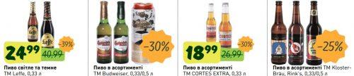 Акции на импортное пиво в NOVUS