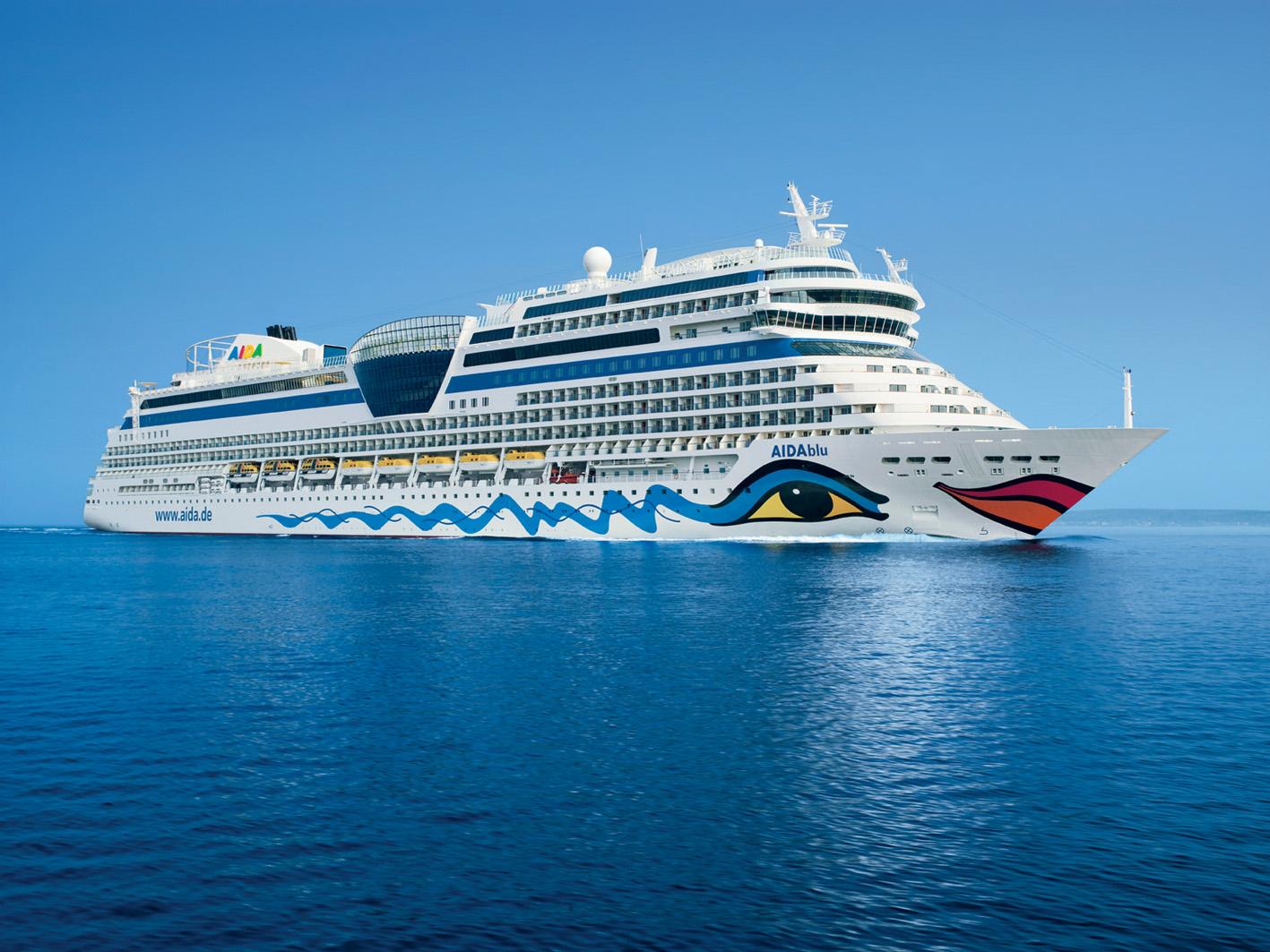 """""""AIDAblu"""" творение компании AIDA Cruises"""