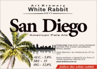 Дегустация пива San Diego от White Rabbit Art Brewery