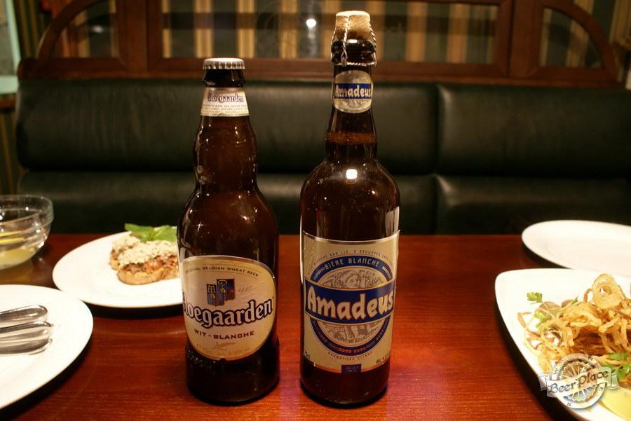 Дегустация пива Amadeus и Hoegaarden в пабе Гастророк. Образцы