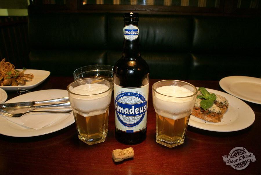 Дегустация пива Amadeus и Hoegaarden в пабе Гастророк. Amadeus