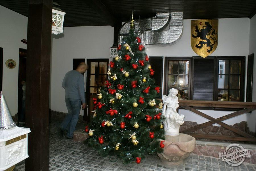 Фоторепортаж. Рождественская ярмарка в музее-ресторане Антверпен. Елка