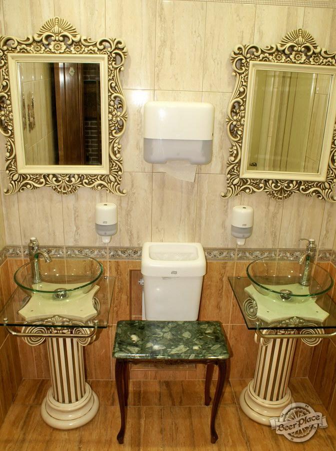 Обзор. Музей-ресторан Антверпен. Туалетная комната