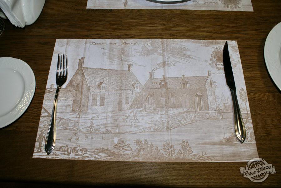 Обзор. Музей-ресторан Антверпен. Салфетки в ресторане