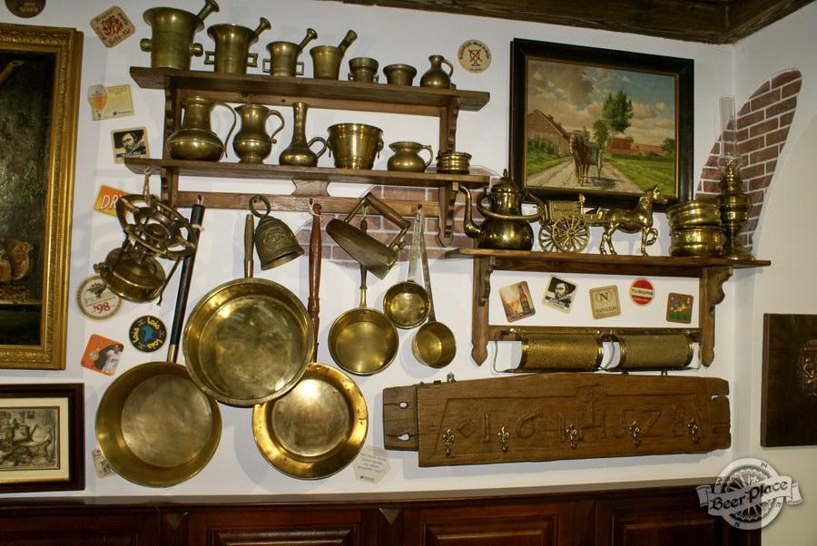 Обзор. Музей-ресторан Антверпен. Немецкий зал. Старинная кухонная утварь