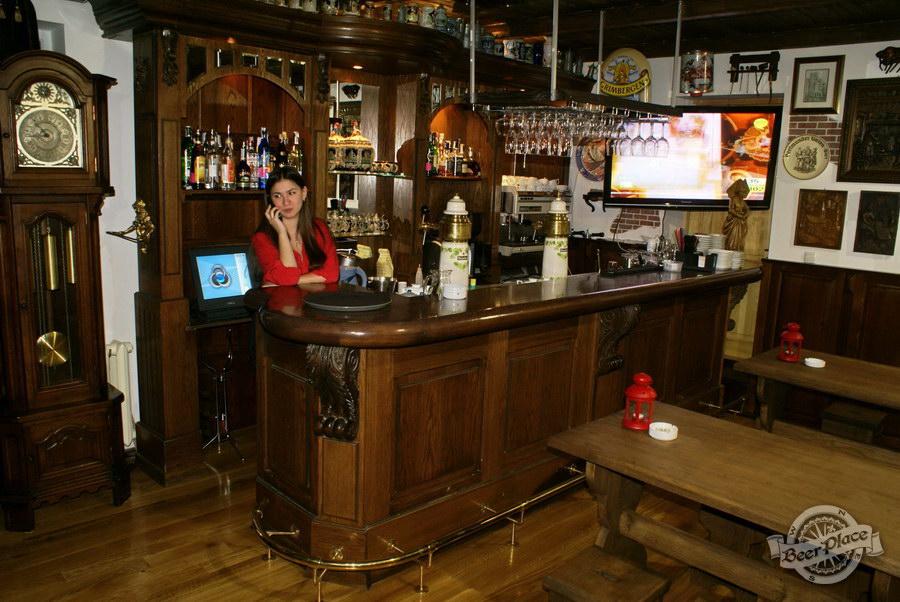 Обзор. Музей-ресторан Антверпен. Барная стойка в немецком зале