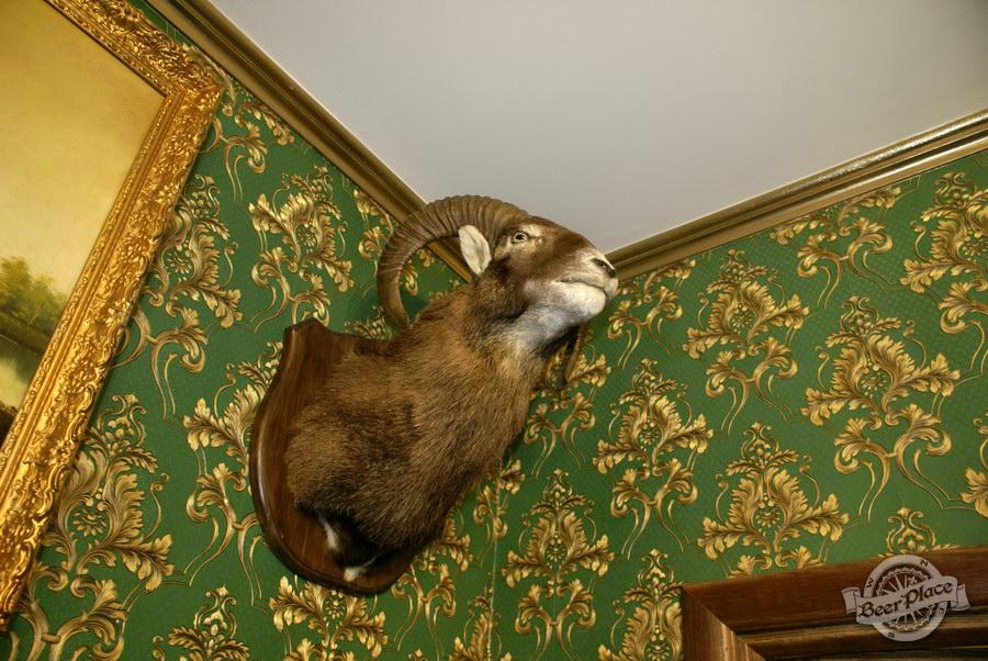 Обзор. Музей-ресторан Антверпен. Интерьер охотничьего зала