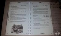 Меню пивоварни Балтика в Питере