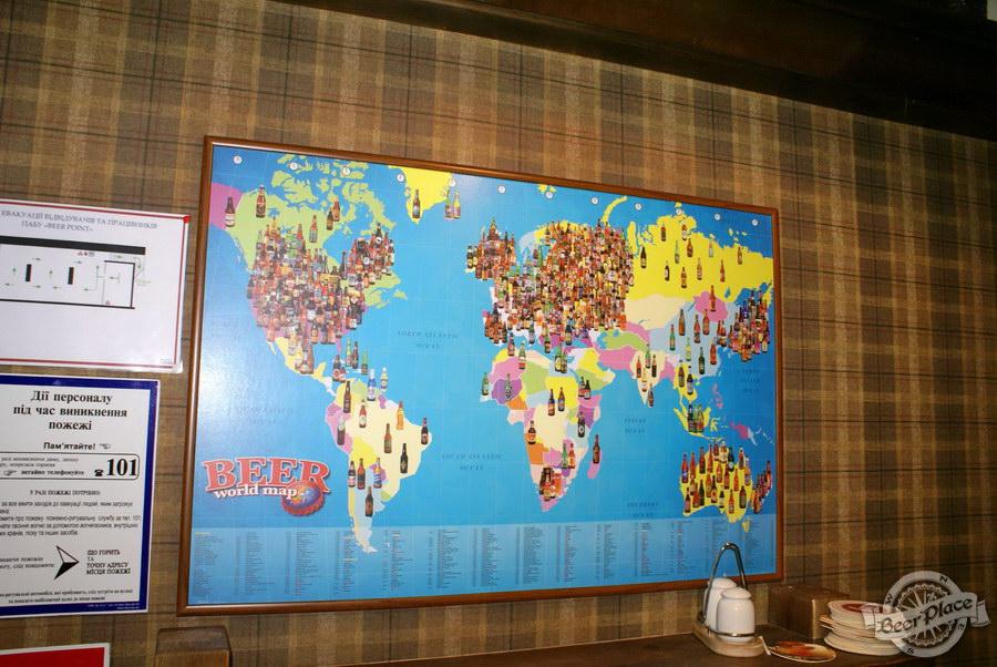 Обзор паба Beer Point  на Подоле. Фото. Карта пива