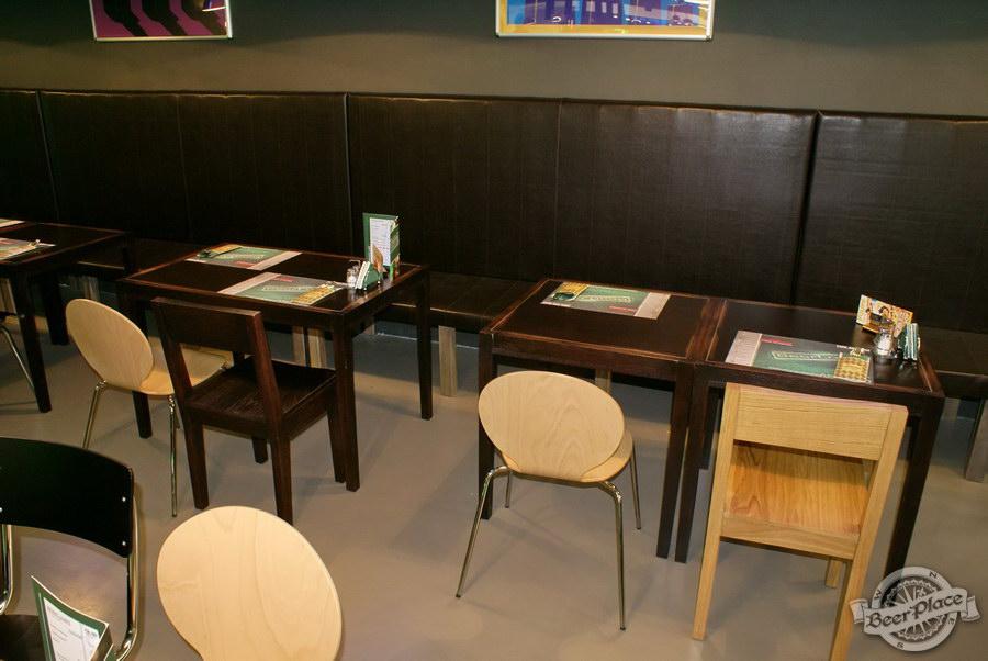 Обзор кафе Becks BeerLoft на Окружной в Ашане. Променада Парк. Итальянский зал. Диваны около стены