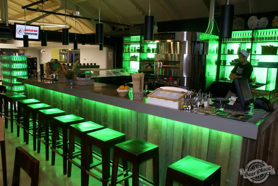 Обзор кафе Becks BeerLoft на Окружной в Ашане. Променада Парк. Итальянский зал. Подсветка