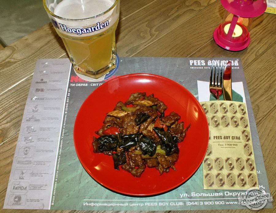 Обзор кафе Becks BeerLoft на Окружной в Ашане. Променада Парк. Китайский салат с телятиной в темном пряном соусе с овощами