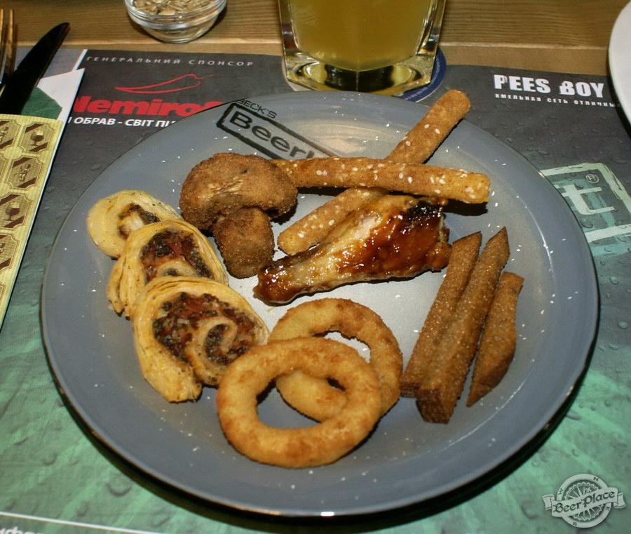 Обзор кафе Becks BeerLoft на Окружной в Ашане. Променада Парк. Пивная тарелка