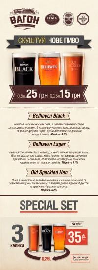 Belhaven Black Belhaven Lager и Old Speckled Hen в Украине