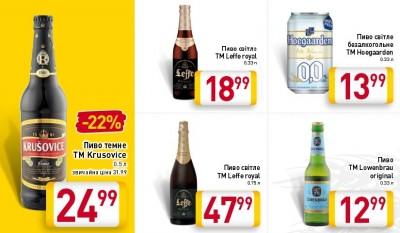 Акции на пиво в супермаркетах Billa
