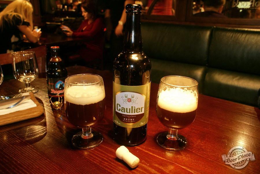 Дегустация пива Caulier Brune и Augustijn Donker в пабе Гастророк. Caulier Brune