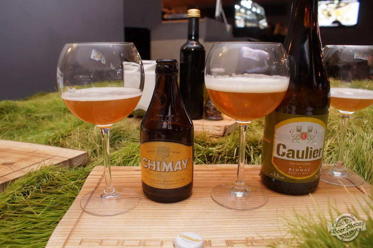 Дегустация Caulier Blonde и Chimay Triple в FoodTourist