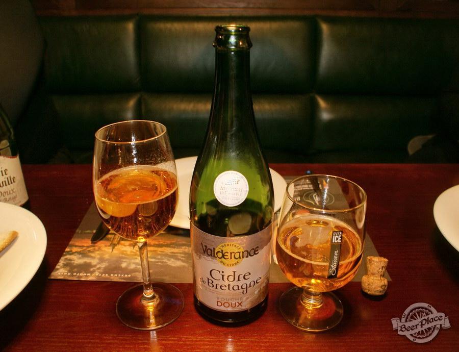Дегустация полусладких сидров. Valderance Cider de Bretagne DOUX