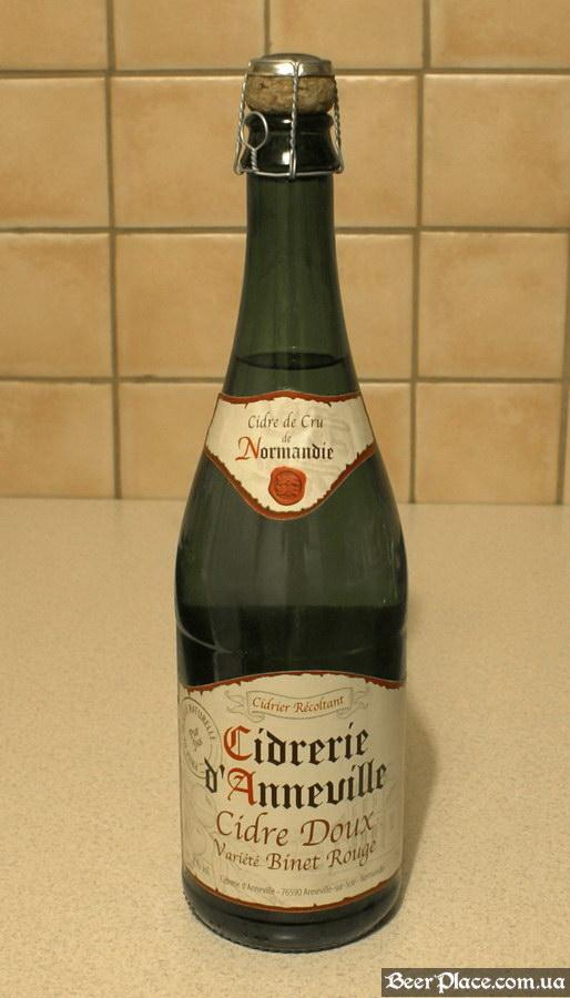 Французский сидр в Киеве. Cidre Doux Variete Binet Rouge. Бутылка в анфас