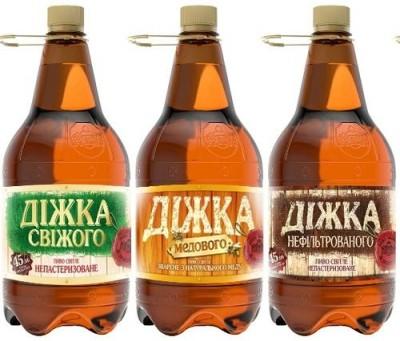 Линейка пива Діжка от Полтавского пивзавода