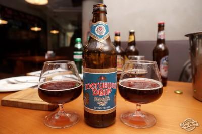 Дегустация пива Гостинный Двора в чураско баре ПивБар
