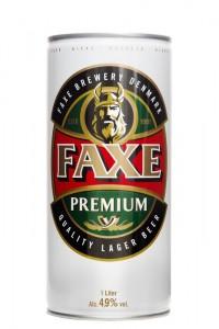Акция на литровый Faxe в Billa