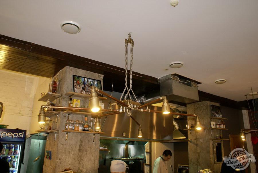Гастрономический бар Барсук. Фото. Технологичные светильники