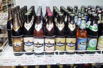 Акция на немецкое пиво в Мега Маркете (Большевик)
