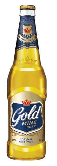 Акция на Gold Mine Beer в супермаркетах Billa